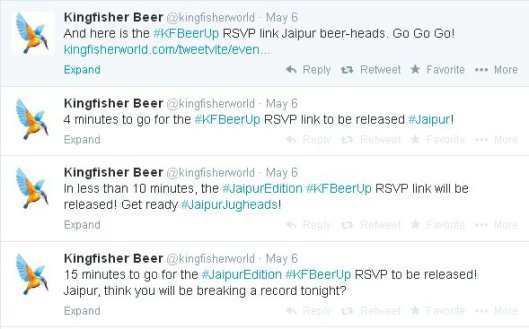 Kingfisher Beer Up Twitter RSVP