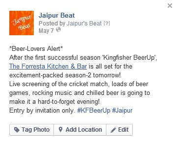 KFBeer Up Jaipur Beat