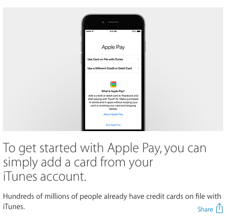how to activate apple pay in iphone 6