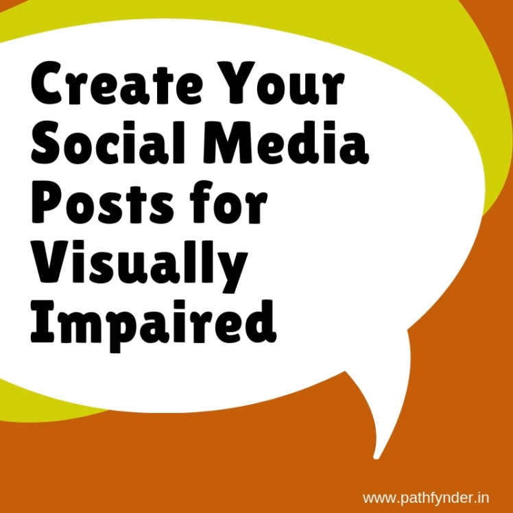 your social media posts for visually impaired